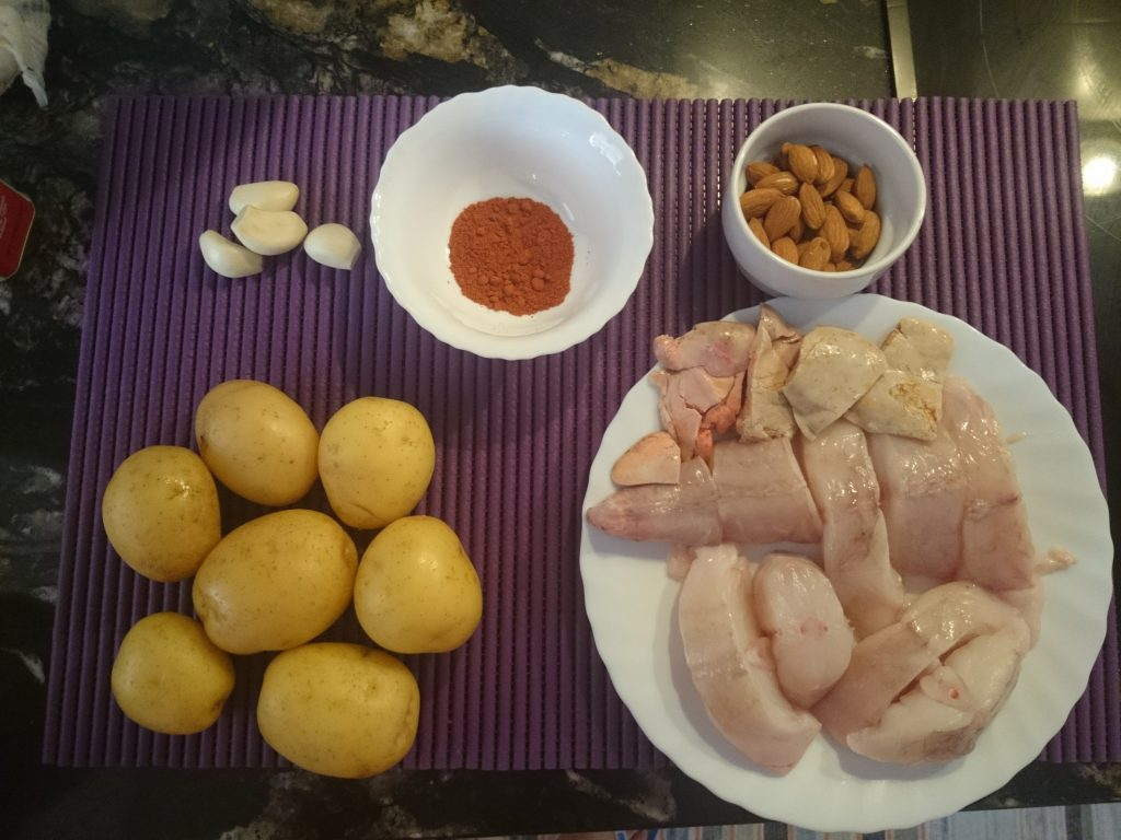 Ingredientes del All-i-pebre.