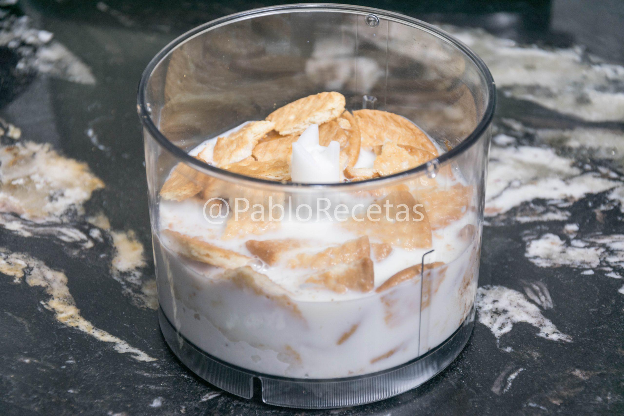 Parte de la crema de galletas.